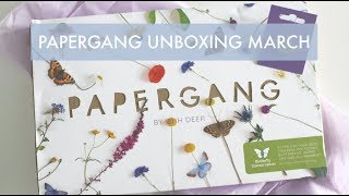 Papergang Unboxing March   Stationery Subscription