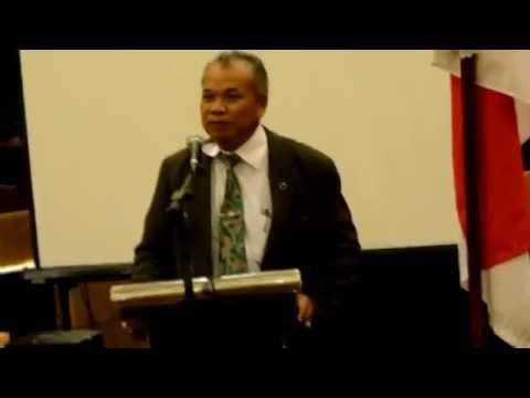 Advokat Senior yang juga Anggota DPR RI Dr. Teguh Samudera sedang Memberikan Sambutan pada Rakernas