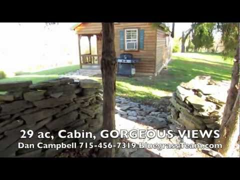 29 ac, Cabin, GORGEOUS Views, Kentucky Gentleman Farm Perryville, KY