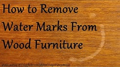 How to Remove Water Marks from Wood Furniture