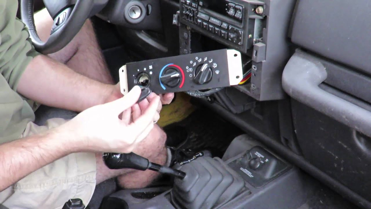 Jeep Wrangler 2001 Replace 3way switch YouTube