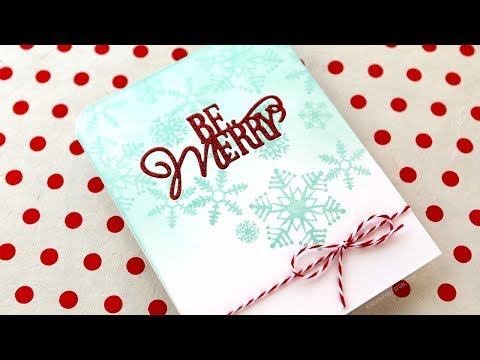 Holiday Card Series 2017 - Day 23 - Glitter Inlay Diecut