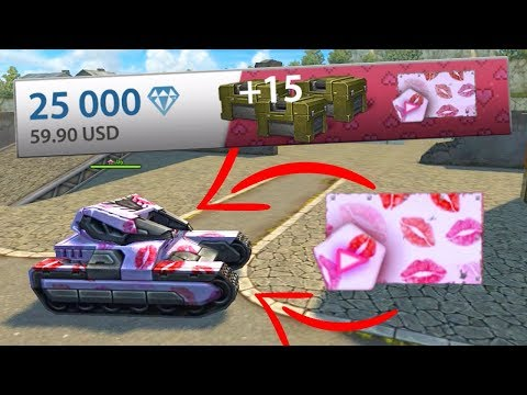 "Tanki Online Valentines Day - Buying New Animated Paint ""First Kiss"" 