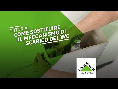 Meccanismo Di Scarico Cassette Wc Monoblocco In Ceramica.Come Sostituire Il Meccanismo Di Risciacquo Del Wc Leroy