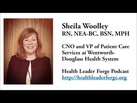 Sheila Woolley, RN, NEA-BC, BSN, MPH, CNO and VP of Patient Care Services