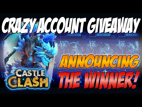Castle Clash - Account Giveaway - With Arctica - Draw
