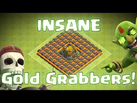 Clash Of Clans - INSANE GOLD GRABBERS!! (It's been stolen!! top 5 raids)