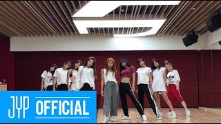"TWICE ""Dance The Night Away\"" Dance Video (NEW JYP Practice Room Ver.)"