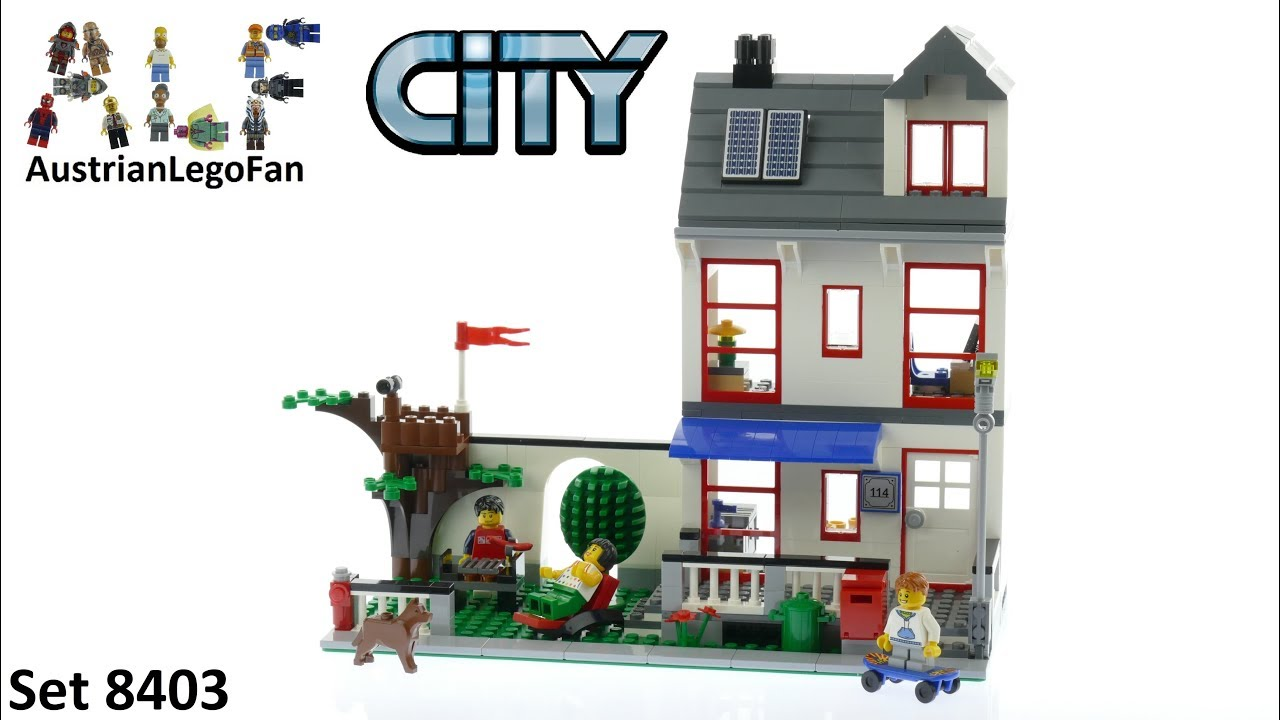 Lego City 8403 City House - Lego Speed Build Review - YouTube
