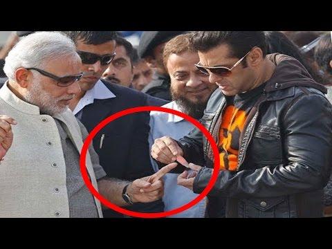 Viral Photo | Salman Khan Bandaged Narendra Modi's Finger in Kite Festival