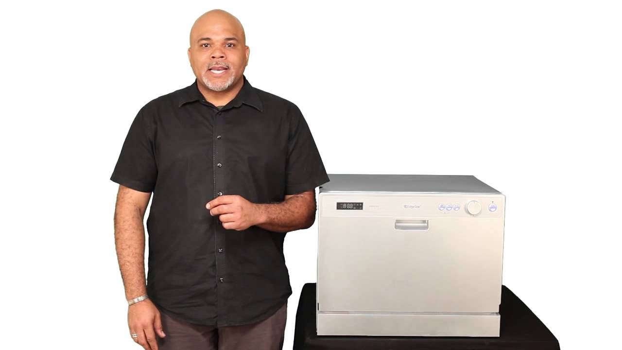 Edgestar 6 Place Setting Energy Star Countertop Dishwasher Dwp61es Youtube