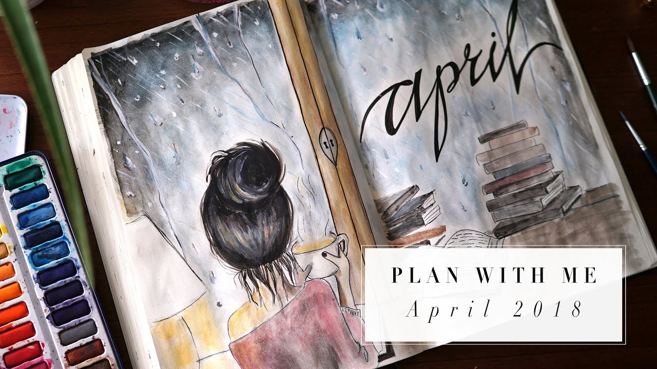 Plan with me april 2018 bullet journal ideas ann le for Minimal art journal