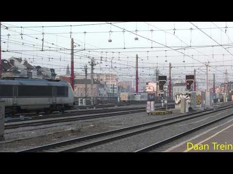 HLE 13 51 met M6 vertrekt uit Brussel Zuid