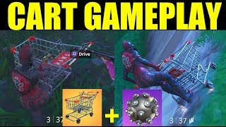 """Shopping Cart Gameplay"" Fortnite How To Get Shopping Cart In Fortnite (Impulse Grenade Test)"