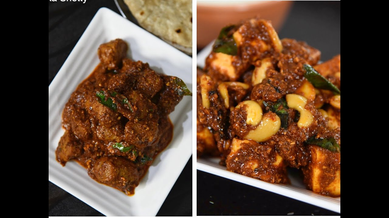 2 Mangalore style veg ghee roast recipes   soya chunks ghee roast recipe   paneer ghee roast recipe