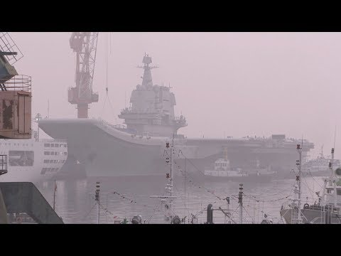 China's first home-built aircraft carrier begins sea trial