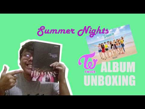 """TWICE 2nd Special Album """"Summer Nights"""" Unboxing"""