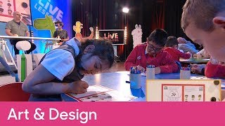 How to draw a new character | Primary Art and Design - CBeebies Pablo Live Lesson