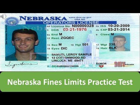Nebraska Fines Limits Practice Test