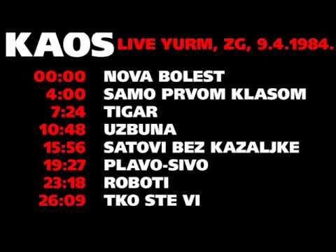 KAOS Live @ Yurm, Zagreb, 9.4.1984.