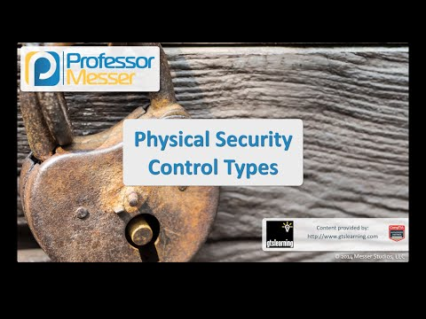 Physical Security Control Types - CompTIA Security+ SY0-401: 2.7