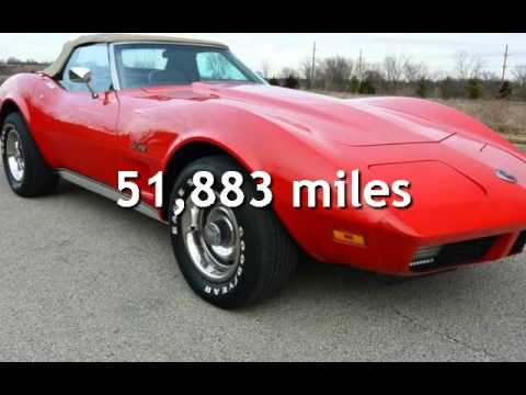Corvette Convertible For Sale >> 1974 Chevrolet Corvette Stingray LS4 454 Convertible for sale in Bucyrus, KS - YouTube