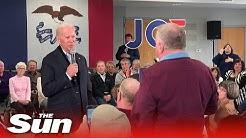 Joe Biden slammed for having a 'no backbone' by Marine Veteran he branded a 'damn liar' and 'fat'