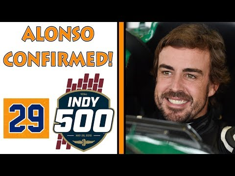 FERNANDO ALONSO CONFIRMS 2019 INDY 500