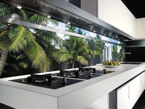 дизайн кухни, фартук из стекла для кухни