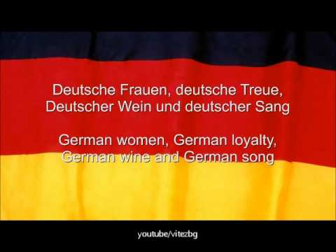 Germany Anthem - German and English  lyrics