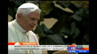 Benedicto XVI recibie a cardenales que investigaron caso Vatileaks