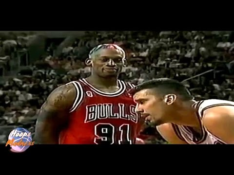 Dennis RODMAN vs Frank BRICKOWSKI - 1996 NBA Finals!