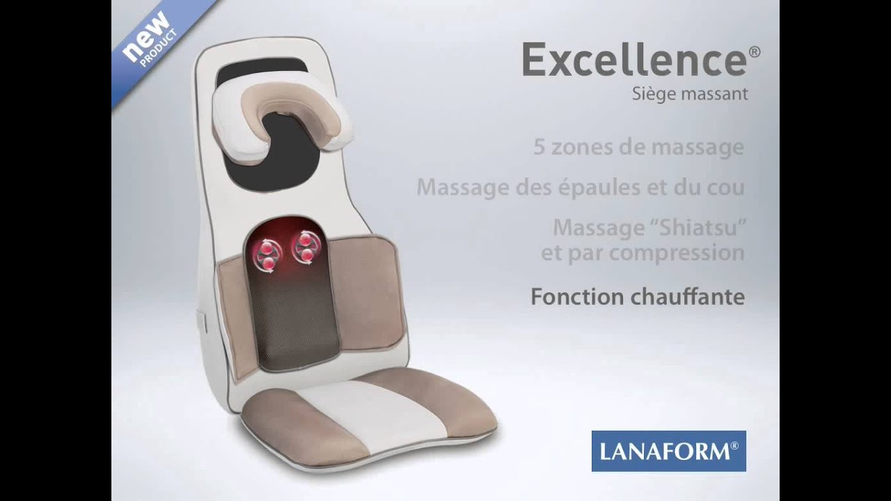 si ge massant excellence pour 2 massages shiatsu compression de lanaform youtube. Black Bedroom Furniture Sets. Home Design Ideas