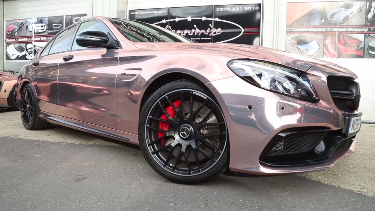 C63 Amg Wrapped Chrome Rose Gold Youtube