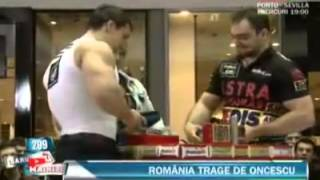 Bodybuilder umiliato a braccio di ferro  Daniel Racoveanu vs  Ion Oncescu