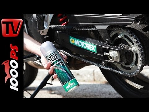 HOW-TO | Kettenschmieren beim Motorrad mit MOTOREX Chain Clean - Road, Offroad, Race