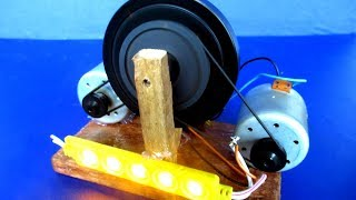 How to make Self Running Machine Free energy with DC motor - Science Experiment DIY at School