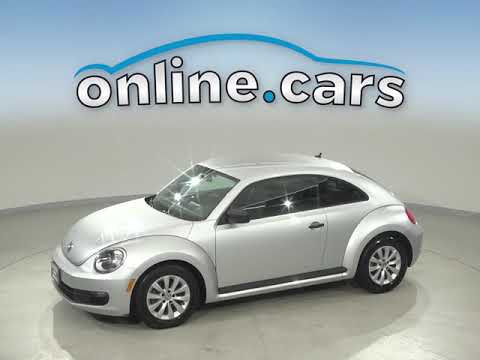 R12783NA Used 2014 Volkswagen Beetle 1.8T Entry FWD 2D Hatchback Silver Test Drive, Review, For Sale