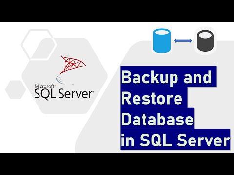 Backup and Restore Database in SQL Server