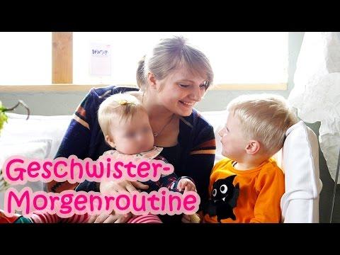 MORGENROUTINE mit 2 KINDERN | Baby & Kleinkind - YouTube