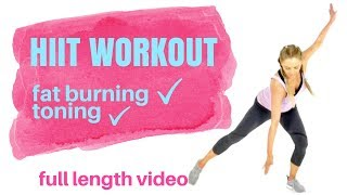 HIIT HOME WORKOUT EXERCISE  FOR WOMEN - Weight Loss Workout -Total Body - No equipment needed s