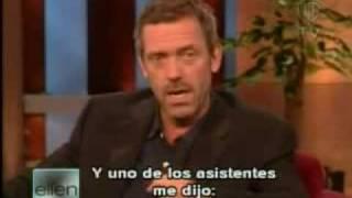 """Hugh Laurie, Entrevistado en """"The Ellen DeGeneres Show"""" Subtitulado al español"""