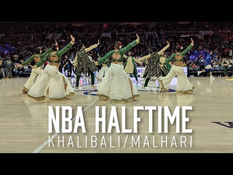 Khalibali Malhari at NBA Halftime Show   Exodus Artistry   Ranveer Singh   Padmaavat