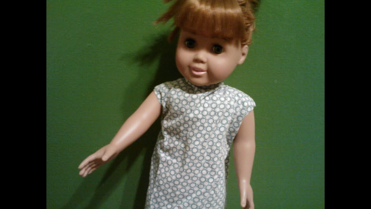 How to make a hospital gown for a doll - YouTube