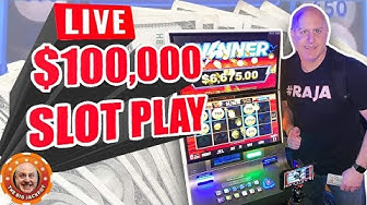 🔴 LIVE $100,000 MAX BET SLOT PLAY with The Raja! 🎰