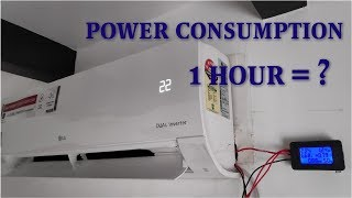 LG 1 Ton Dual inverter AC Power Consumption test