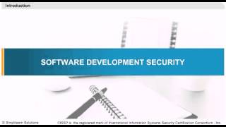Introduction to Software Development Security | CISSP Training Online | CISSP Video Training