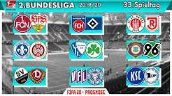 FIFA 20: Spieltag 33 (Sonntagskonferenz) - Saison 19/20 2.Bundesliga Prognose l Deutsch [FULL HD]
