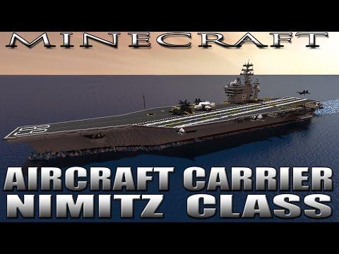 MINECRAFT: AIRCRAFT CARRIER U.S.S. NIMITZ CVN-68