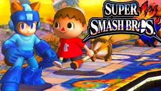 Super Smash Bros 4 3DS Demo Codes Contest Giveaway! Villager Tanooki Mega Man Gameplay PART 2
